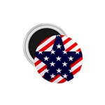 Patriotic Usa Stars Stripes Red 1.75  Magnets