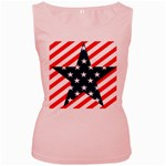 Patriotic Usa Stars Stripes Red Women s Pink Tank Top