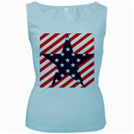 Patriotic Usa Stars Stripes Red Women s Baby Blue Tank Top