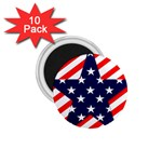 Patriotic Usa Stars Stripes Red 1.75  Magnets (10 pack)