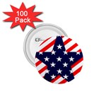 Patriotic Usa Stars Stripes Red 1.75  Buttons (100 pack)