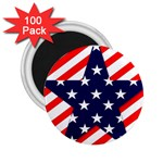 Patriotic Usa Stars Stripes Red 2.25  Magnets (100 pack)