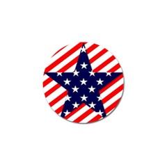 Patriotic Usa Stars Stripes Red Golf Ball Marker (10 Pack) by Celenk
