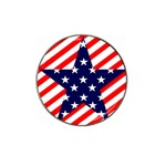 Patriotic Usa Stars Stripes Red Hat Clip Ball Marker (10 pack)