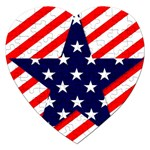 Patriotic Usa Stars Stripes Red Jigsaw Puzzle (Heart)
