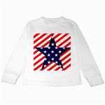 Patriotic Usa Stars Stripes Red Kids Long Sleeve T-Shirts