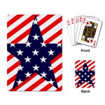 Patriotic Usa Stars Stripes Red Playing Card