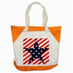 Patriotic Usa Stars Stripes Red Accent Tote Bag