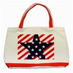 Patriotic Usa Stars Stripes Red Classic Tote Bag (Red)