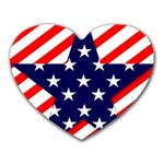 Patriotic Usa Stars Stripes Red Heart Mousepads