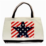 Patriotic Usa Stars Stripes Red Basic Tote Bag (Two Sides)