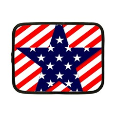 Patriotic Usa Stars Stripes Red Netbook Case (small)  by Celenk