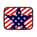 Patriotic Usa Stars Stripes Red Netbook Case (Small)
