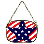 Patriotic Usa Stars Stripes Red Chain Purses (One Side)