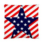 Patriotic Usa Stars Stripes Red Standard Cushion Case (Two Sides)