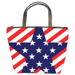 Patriotic Usa Stars Stripes Red Bucket Bags