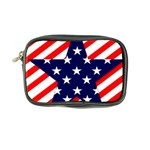 Patriotic Usa Stars Stripes Red Coin Purse