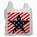Patriotic Usa Stars Stripes Red Recycle Bag (One Side)