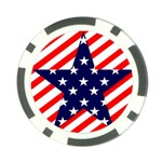 Patriotic Usa Stars Stripes Red Poker Chip Card Guard (10 pack)
