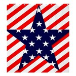 Patriotic Usa Stars Stripes Red Shower Curtain 66  x 72  (Large)