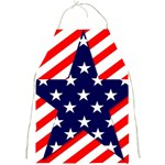 Patriotic Usa Stars Stripes Red Full Print Aprons