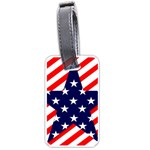 Patriotic Usa Stars Stripes Red Luggage Tags (One Side)