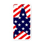 Patriotic Usa Stars Stripes Red Apple iPhone 4 Case (White)