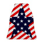 Patriotic Usa Stars Stripes Red Bell Ornament (Two Sides)