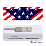 Patriotic Usa Stars Stripes Red Memory Card Reader (Stick)