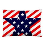 Patriotic Usa Stars Stripes Red Pillow Case (Two Sides)