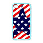 Patriotic Usa Stars Stripes Red Apple iPhone 4 Case (Color)