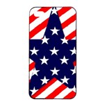 Patriotic Usa Stars Stripes Red Apple iPhone 4/4s Seamless Case (Black)