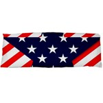 Patriotic Usa Stars Stripes Red Body Pillow Case Dakimakura (Two Sides)