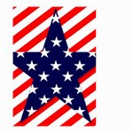 Patriotic Usa Stars Stripes Red Small Garden Flag (Two Sides)