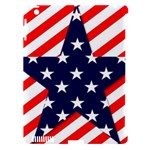 Patriotic Usa Stars Stripes Red Apple iPad 3/4 Hardshell Case (Compatible with Smart Cover)