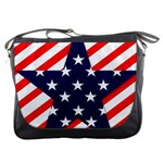 Patriotic Usa Stars Stripes Red Messenger Bags