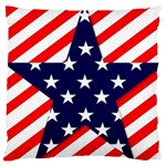 Patriotic Usa Stars Stripes Red Large Cushion Case (One Side)