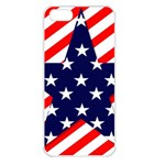 Patriotic Usa Stars Stripes Red Apple iPhone 5 Seamless Case (White)