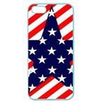 Patriotic Usa Stars Stripes Red Apple Seamless iPhone 5 Case (Color)