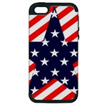 Patriotic Usa Stars Stripes Red Apple iPhone 5 Hardshell Case (PC+Silicone)