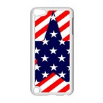 Patriotic Usa Stars Stripes Red Apple iPod Touch 5 Case (White)