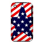 Patriotic Usa Stars Stripes Red iPhone 3S/3GS
