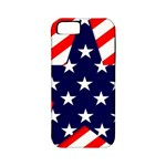 Patriotic Usa Stars Stripes Red Apple iPhone 5 Classic Hardshell Case (PC+Silicone)