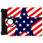 Patriotic Usa Stars Stripes Red Kindle Fire HD 7