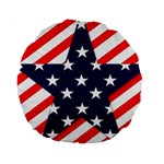 Patriotic Usa Stars Stripes Red Standard 15  Premium Round Cushions