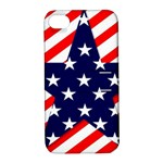 Patriotic Usa Stars Stripes Red Apple iPhone 4/4S Hardshell Case with Stand
