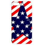 Patriotic Usa Stars Stripes Red Apple iPhone 5 Hardshell Case with Stand