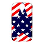 Patriotic Usa Stars Stripes Red Samsung Galaxy S4 Classic Hardshell Case (PC+Silicone)