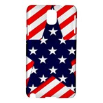 Patriotic Usa Stars Stripes Red Samsung Galaxy Note 3 N9005 Hardshell Case