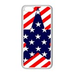 Patriotic Usa Stars Stripes Red Apple iPhone 5C Seamless Case (White)